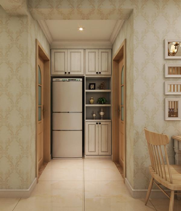 厨房、卫生间中间位置装修设计效果展示。