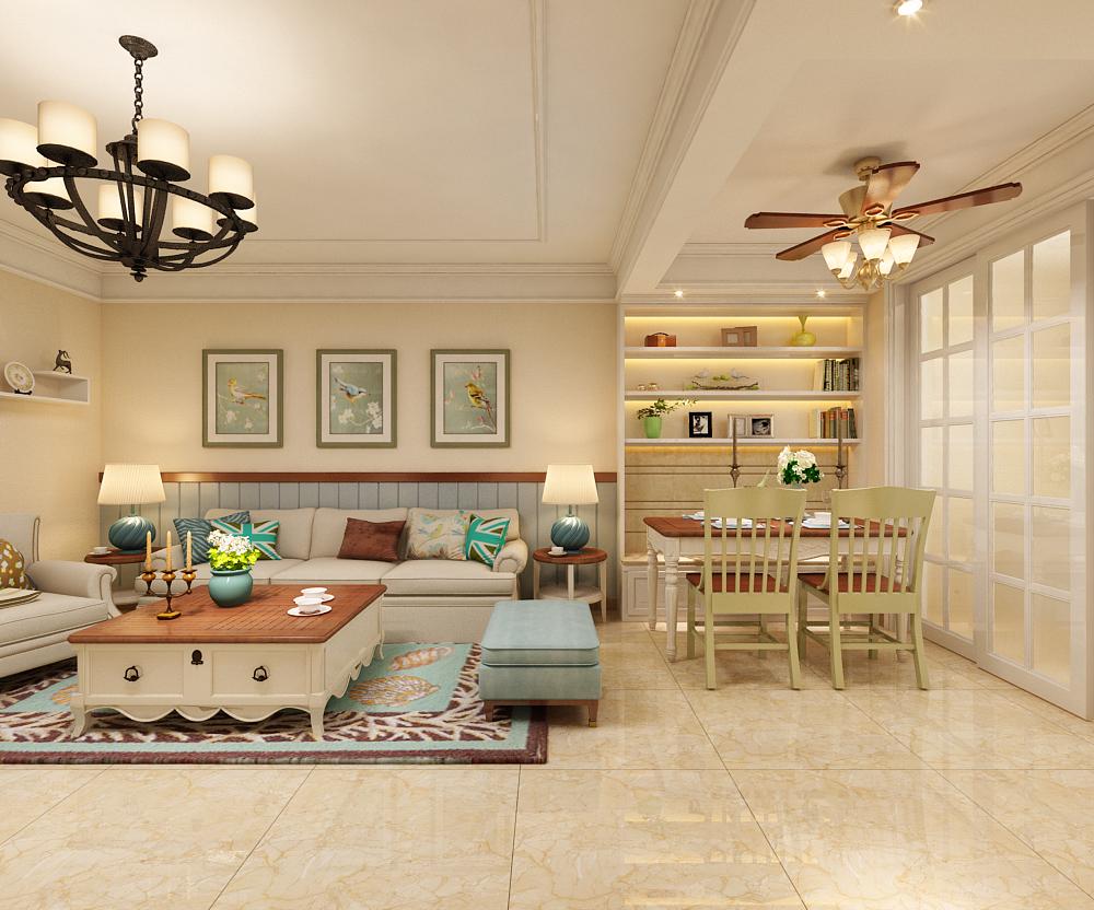 三居 田园 翰林观天下 餐厅图片来自乐豪斯装饰张洪博在翰林117平米美式风格装修案例的分享