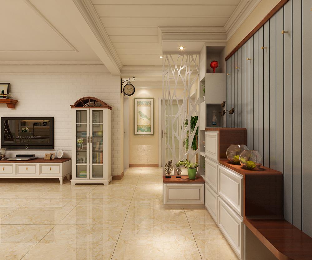 三居 田园 翰林观天下 玄关图片来自乐豪斯装饰张洪博在翰林117平米美式风格装修案例的分享
