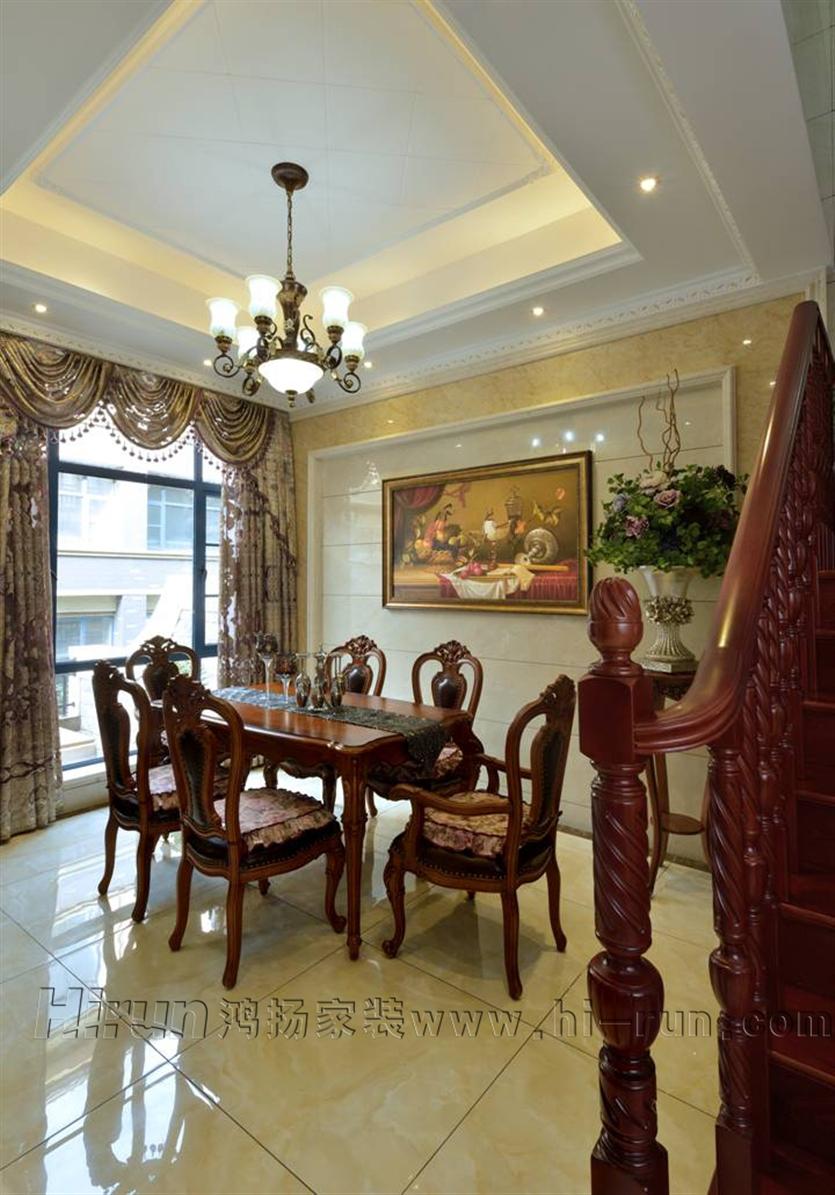 欧式 餐厅图片来自鸿扬家装武汉分公司在锦绣长江之白色欧风的分享