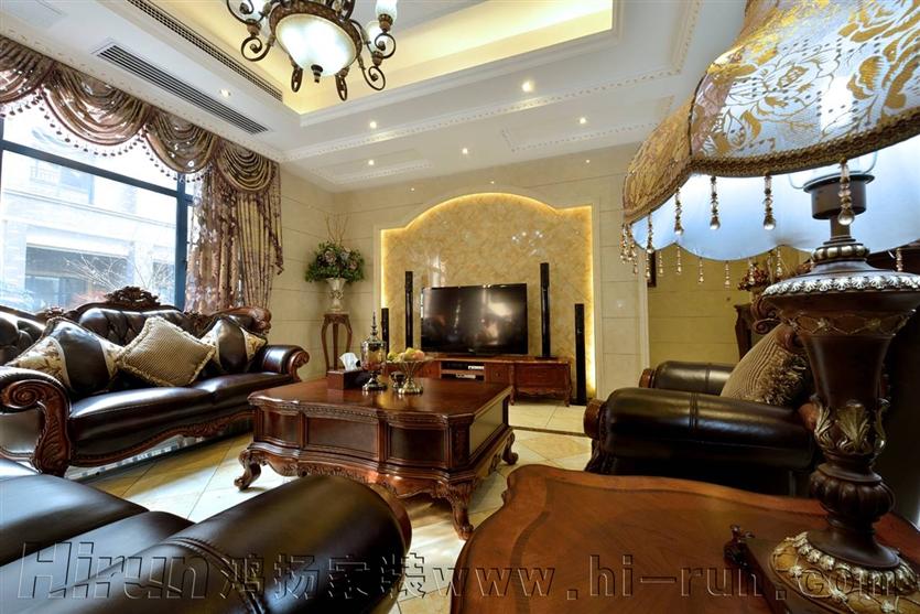 客厅图片来自鸿扬家装武汉分公司在锦绣长江之白色欧风的分享