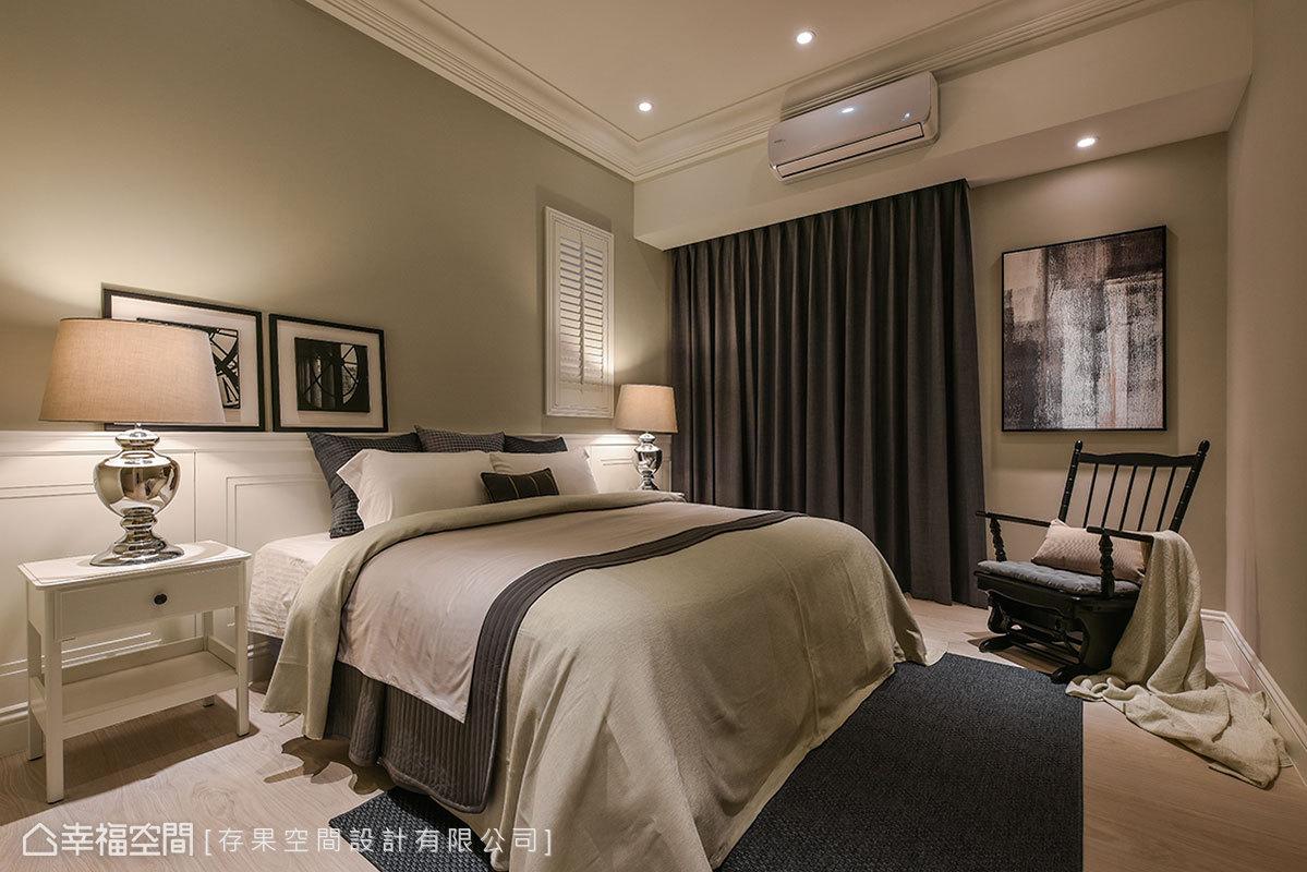 三居 美式 简约 小资 卧室图片来自幸福空间在215平写意气息 美式暖调生活的分享