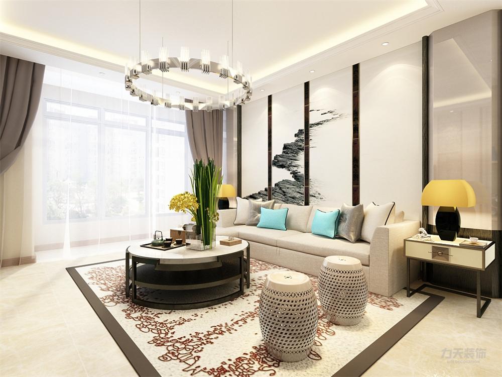 二居 欧式 白领 收纳 80后 小资 客厅图片来自阳光力天装饰在力天装饰-首玺  100㎡的分享