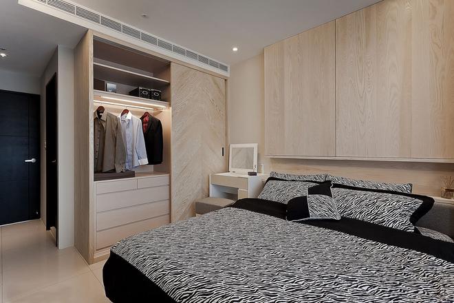 简约 二居 白领 收纳 新古典 卧室图片来自武汉苹果装饰在猫舍—水岸人文的分享