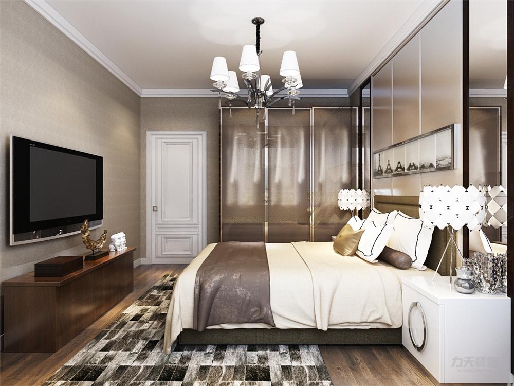 二居 欧式 白领 收纳 80后 小资 卧室图片来自阳光力天装饰在力天装饰-首玺  100㎡的分享