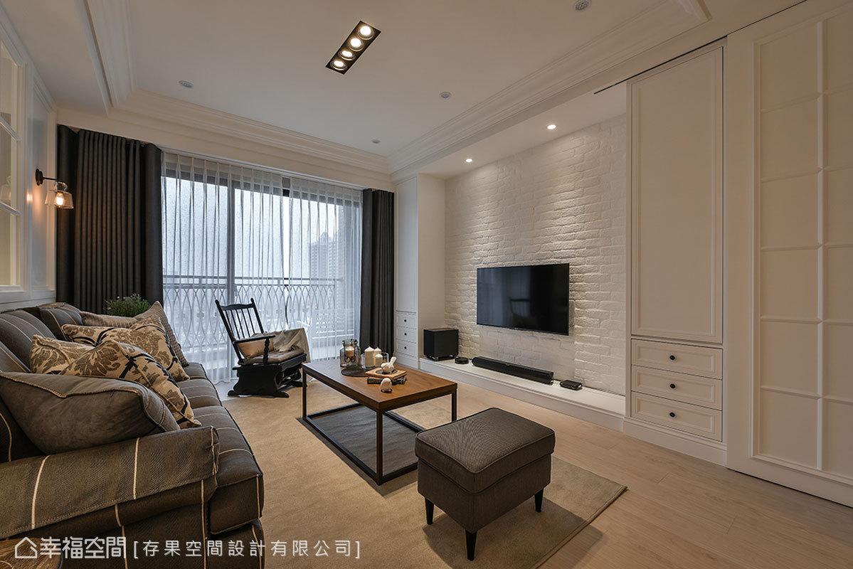 三居 美式 简约 小资 客厅图片来自幸福空间在215平写意气息 美式暖调生活的分享