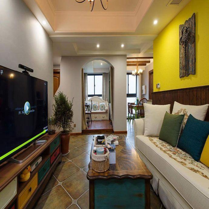 三居 美式风格 客厅图片来自成都幸福魔方装饰公司在天府美岸131.00㎡美式风格的分享