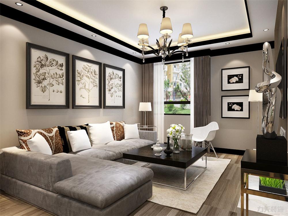 简约 三居 白领 收纳 80后 小资 客厅图片来自阳光力天装饰在力天装饰-远洋城 106㎡的分享