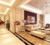 紫晶悦城沙发背景墙装修设计效果图