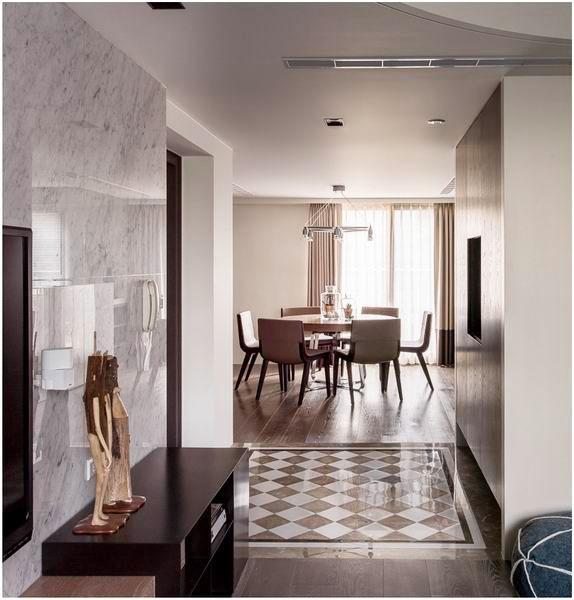简约 三居 日式 客厅 卧室 收纳 背景墙 卫生间 餐厅 餐厅图片来自实创装饰晶晶在治愈系的日式风,靠软装飙升气质的分享