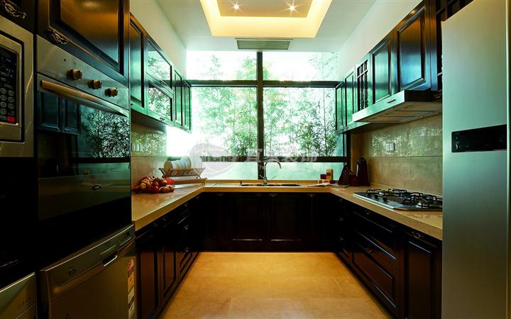 厨房图片来自沈阳宜家装饰在远洋岦宫混搭风格的分享