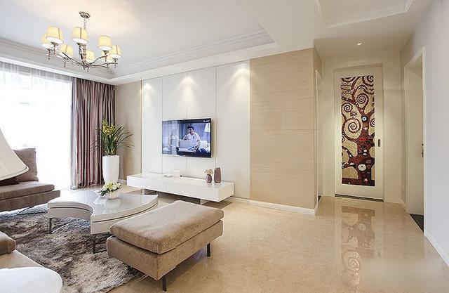 简约 三居 收纳 旧房改造 80后 124平两室 客厅图片来自上海实创-装修设计效果图在124平两室一厅 现代简约风格家的分享