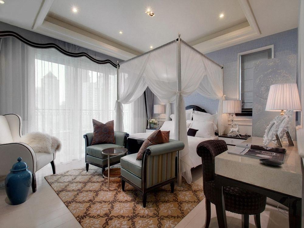 简约 新古典 二居 小资 卧室图片来自一道伍禾装饰设计师杨洋在优雅青花之新古典风格-华贸城的分享
