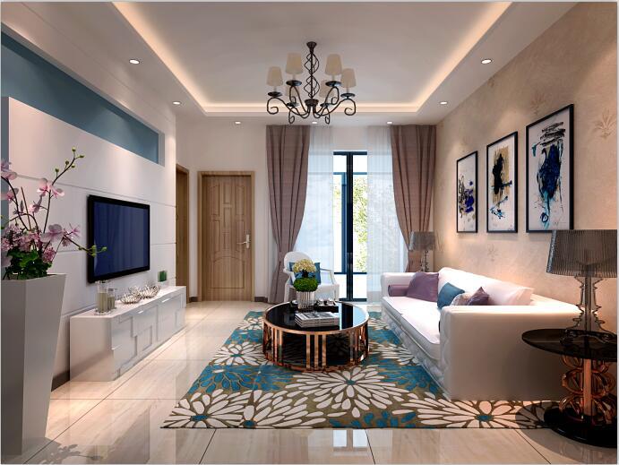 三居 现代简约风 佳园装饰 装修案例 客厅图片来自佳园装饰在花果园78平米现代简约风格案例的分享