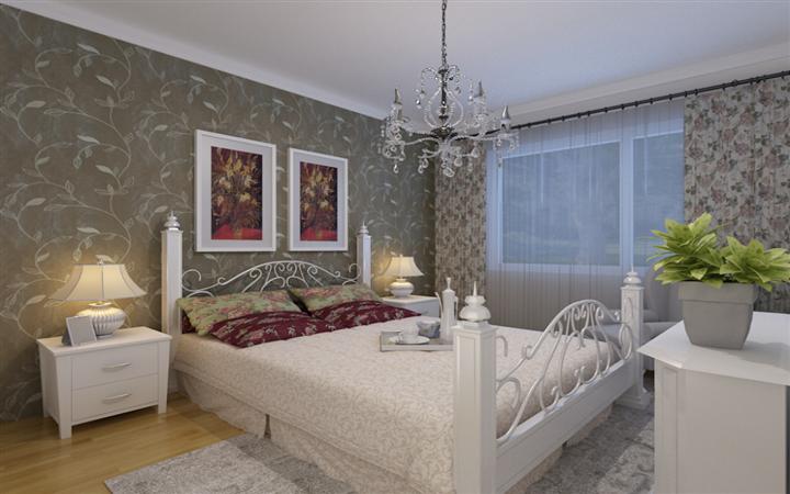 卧室图片来自沈阳宜家装饰在中旅国际小镇简约风格的分享