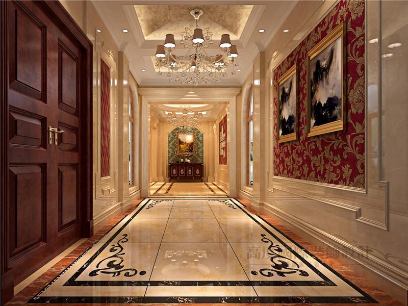 欧式 别墅 蓝岸丽舍 新古典 客厅 玄关图片来自沙漠雪雨在603平米优雅大气欧式新古典别墅的分享