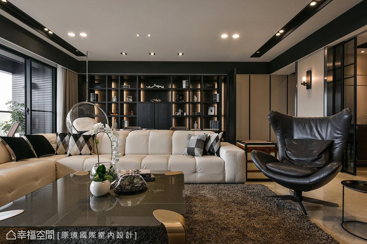 三居 美式 收纳 小资 客厅图片来自幸福空间在198平人文质韵 构筑悠然生活态度的分享