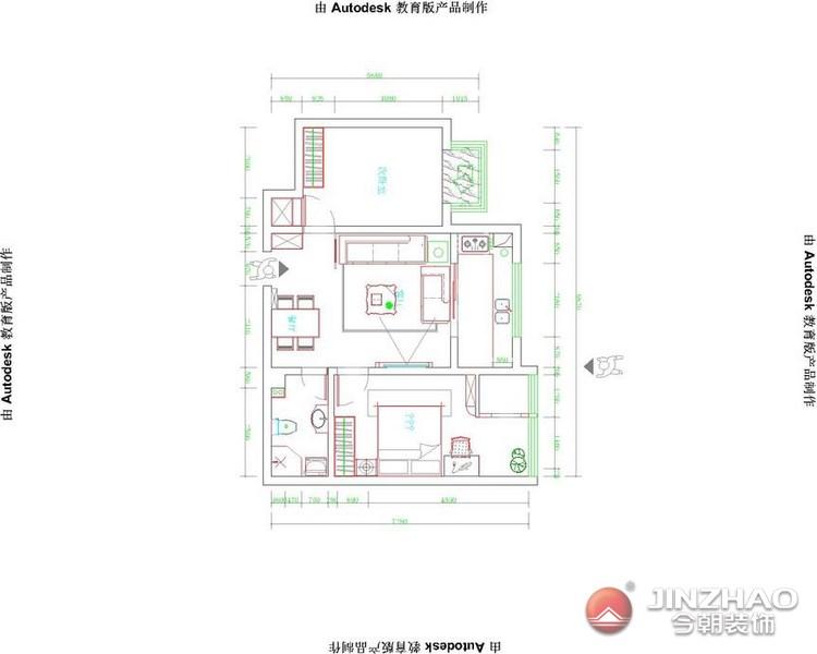 简约 户型图图片来自阿布的小茅屋15034052435在路景苑90平米--现代简约的分享