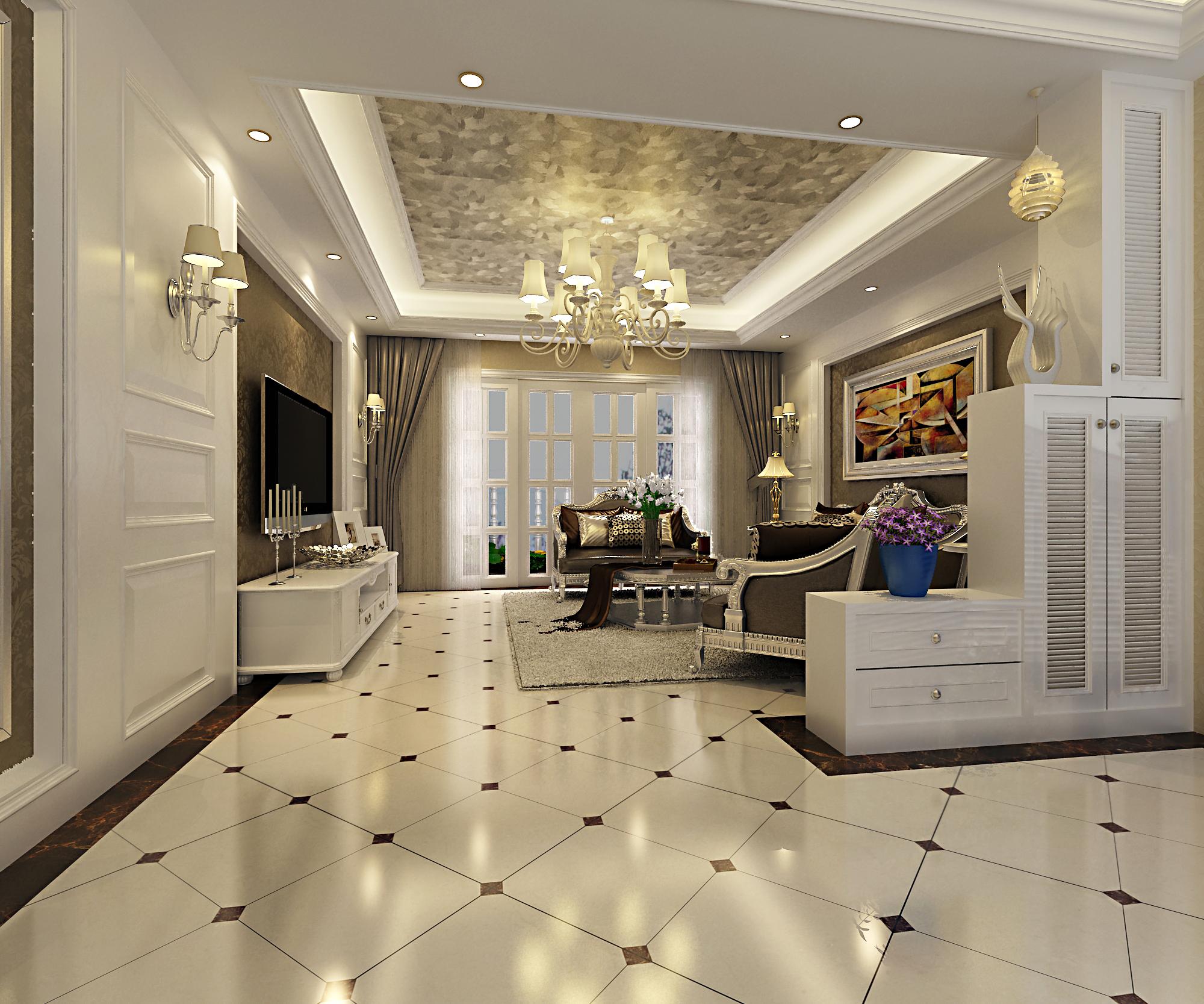 客厅图片来自湖南名匠装饰在宏聚地中海-新古典风格的分享