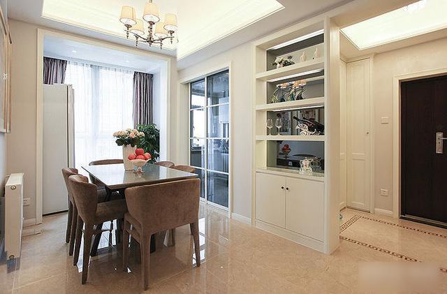简约 三居 收纳 旧房改造 80后 124平两室 餐厅图片来自上海实创-装修设计效果图在124平两室一厅 现代简约风格家的分享