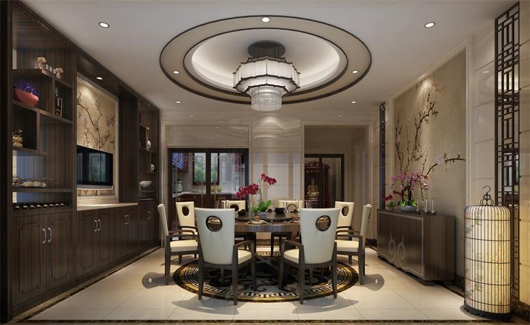 中式 优雅 餐厅图片来自居众装饰佛山分公司在居众装饰-云山峰境泷庭墅的分享