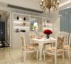 设计理念:碎花的椅子,使整个餐厅生机勃勃