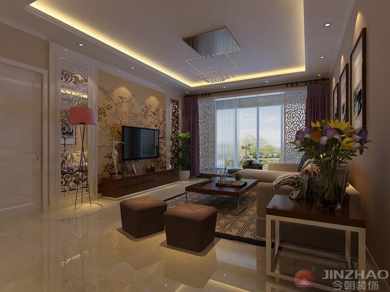 客厅图片来自装家美在榆次新晋世家158平米现代简约的分享