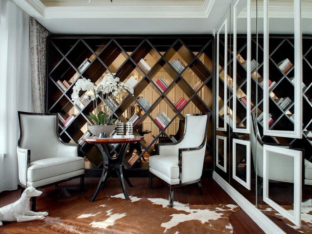 简约 新古典 二居 小资 书房图片来自一道伍禾装饰设计师杨洋在优雅青花之新古典风格-华贸城的分享