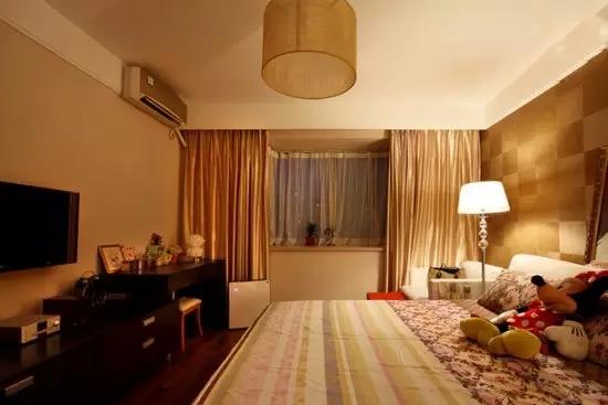 二居 简约 旧房改造 收纳 现代 客厅 卧室 厨房 餐厅 卧室图片来自实创装饰晶晶在简单才是真治愈,95㎡简约两居的分享