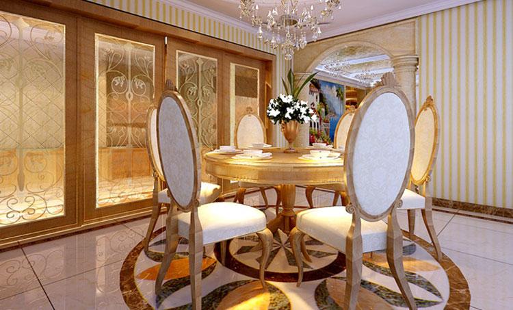 """欧式 巢NEST别墅 别墅装修 最美效果图 餐厅图片来自武汉实创装饰张娟在品位生活""""极致之美""""的分享"""