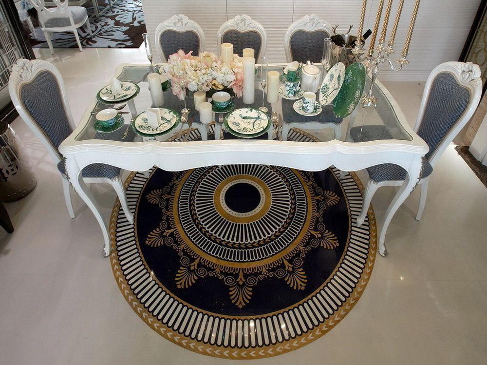 简约 新古典 二居 小资 餐厅图片来自一道伍禾装饰设计师杨洋在优雅青花之新古典风格-华贸城的分享