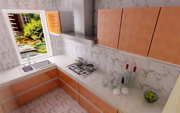厨房图片来自沈阳宜家装饰在中旅国际小镇简约风格的分享