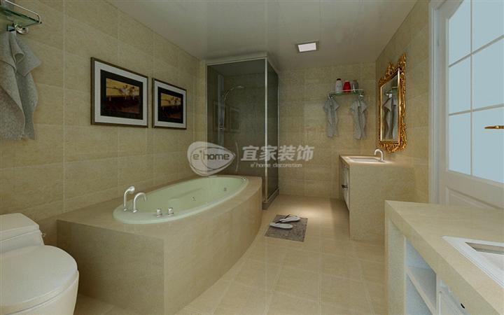 卫生间图片来自沈阳宜家装饰在中铁万科香湖盛景简欧风格的分享