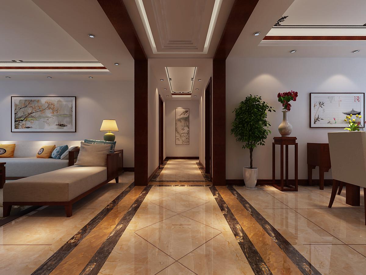 四居 中式风格 其他图片来自乐豪斯装饰张洪博在石家庄西部枫景四室装修效果图的分享