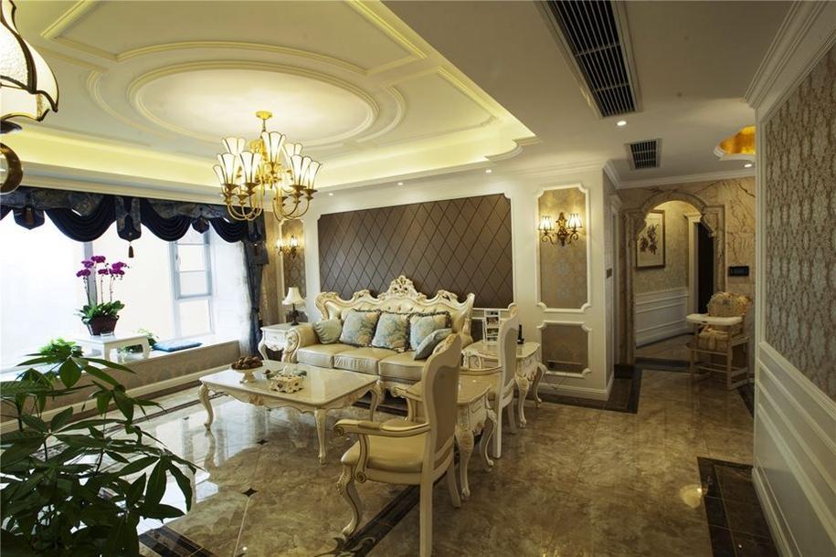 三居 欧式 80后 旧房改造 客厅图片来自朗润装饰工程有限公司在保利锦湖林语欧美风情实景图的分享