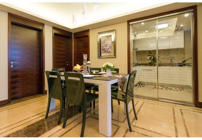 现代 简约 三居室 餐厅图片来自成都丰立装饰工程公司在122平舒适现代简约风的分享