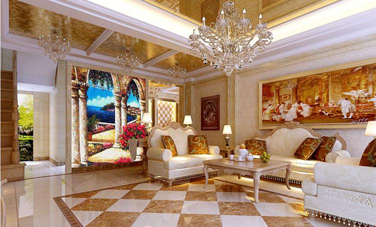"""欧式 巢NEST别墅 别墅装修 最美效果图 客厅图片来自武汉实创装饰张娟在品位生活""""极致之美""""的分享"""