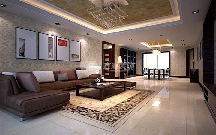客厅图片来自沈阳宜家装饰在远洋岦宫混搭风格的分享