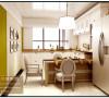 厨房和餐厅采用一体化,利用空间的局限性,L型的橱柜使得可以装饰一整面墙,让空间变的不在中规中矩,而富有情调和时尚。