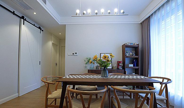 餐厅图片来自家装大管家在明快简洁 170平现代淡雅舒适3居的分享