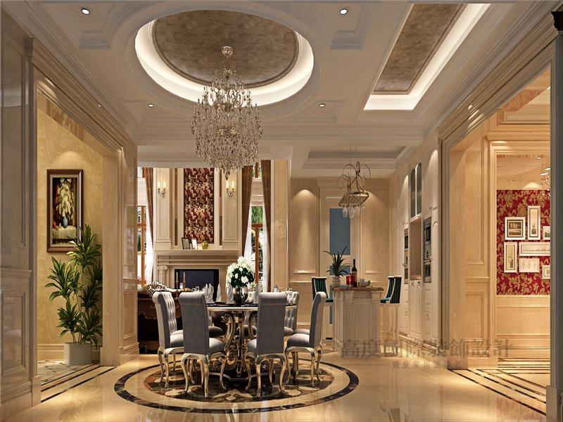 欧式 别墅 蓝岸丽舍 新古典 客厅 餐厅图片来自沙漠雪雨在603平米优雅大气欧式新古典别墅的分享