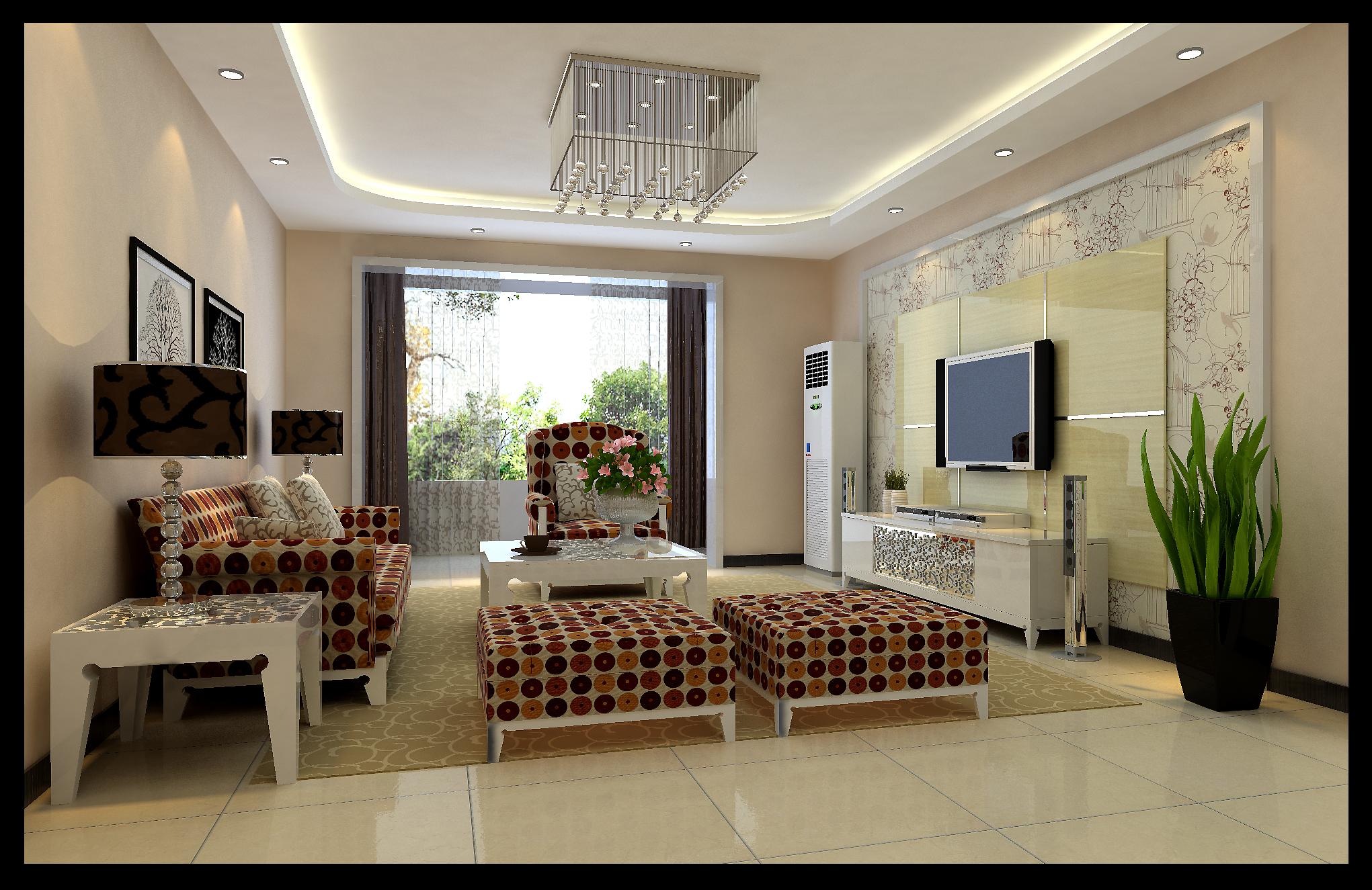 现代简约 三居室 大户型装修 最美效果图图片来自武汉实创装饰张娟在国际百纳104平米装修效果的分享