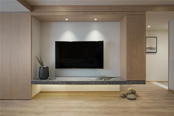 简约 白领 收纳 四居 猫舍 客厅图片来自武汉苹果装饰在猫舍—质感简约风的分享