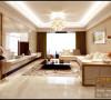 客厅和过道之间采用小木柜来分区,而没有采用普遍设计的通顶隔断,这样设计使整个空间通透,光照充足,增加居室的视觉面积,整个空间变的井然有序。