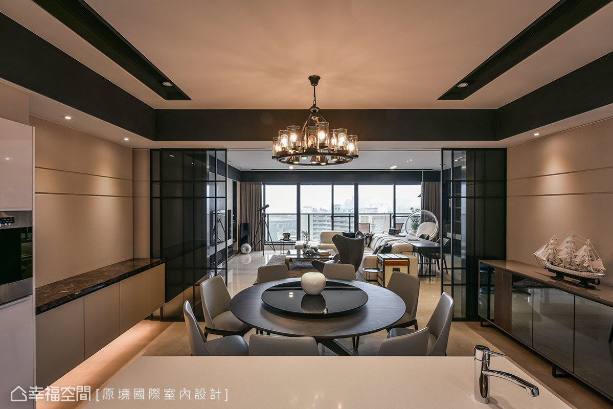 三居 美式 收纳 小资 餐厅图片来自幸福空间在198平人文质韵 构筑悠然生活态度的分享