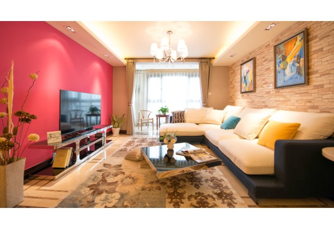 现代 简约 三居室 客厅图片来自成都丰立装饰工程公司在122平舒适现代简约风的分享