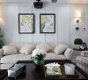 质朴的纹理结合素雅的家纺,创造出简朴、高雅的客厅氛围