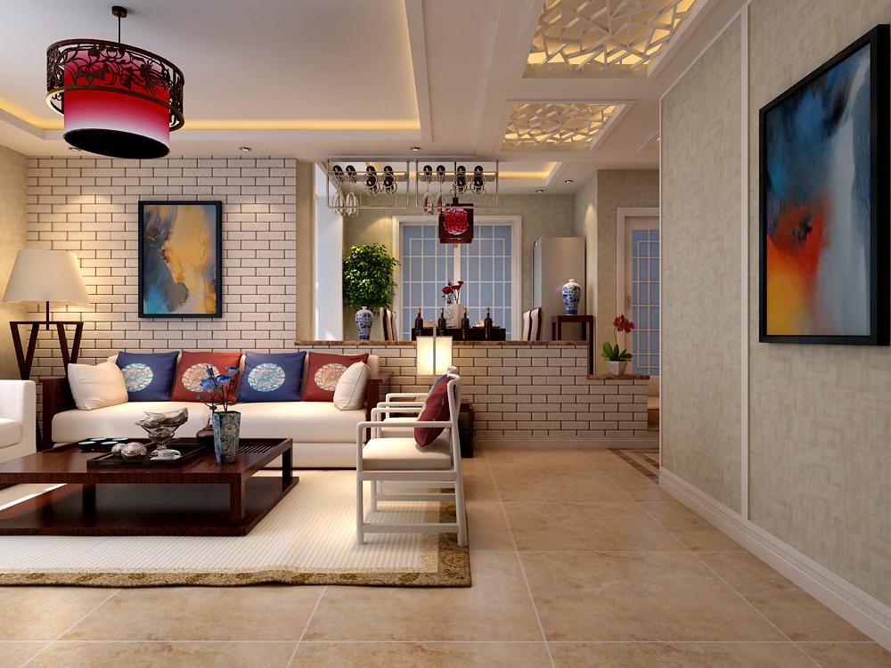 三居 中式 客厅图片来自乐豪斯装饰张洪博在石家庄华基君程中式风格的分享