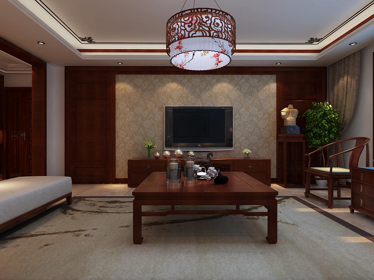 四居 中式风格 客厅图片来自乐豪斯装饰张洪博在石家庄西部枫景四室装修效果图的分享