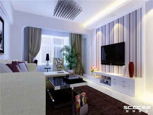 设计理念:设计师以现代的装饰手法和家具,结合简约中式的装饰元素,来呈当今现代风格的空间氛围。冷色背景墙与暖色灯光搭配风格的素雅自然衔接,使生活的实用性和对传统文化的追求同时得到了满足